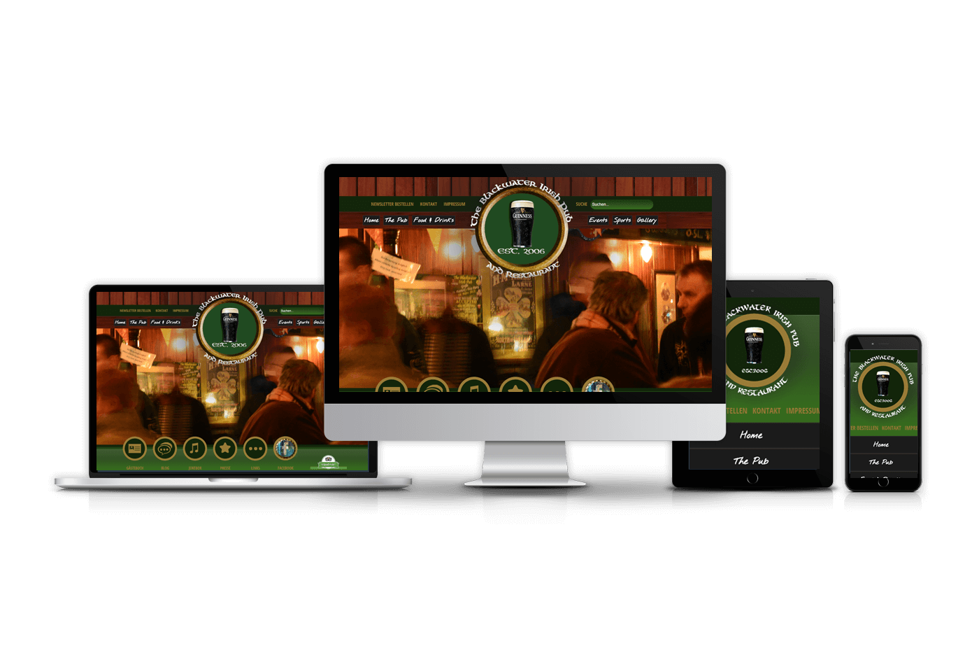 Responsive Website Blackwater Irish Pub Winterberg 1