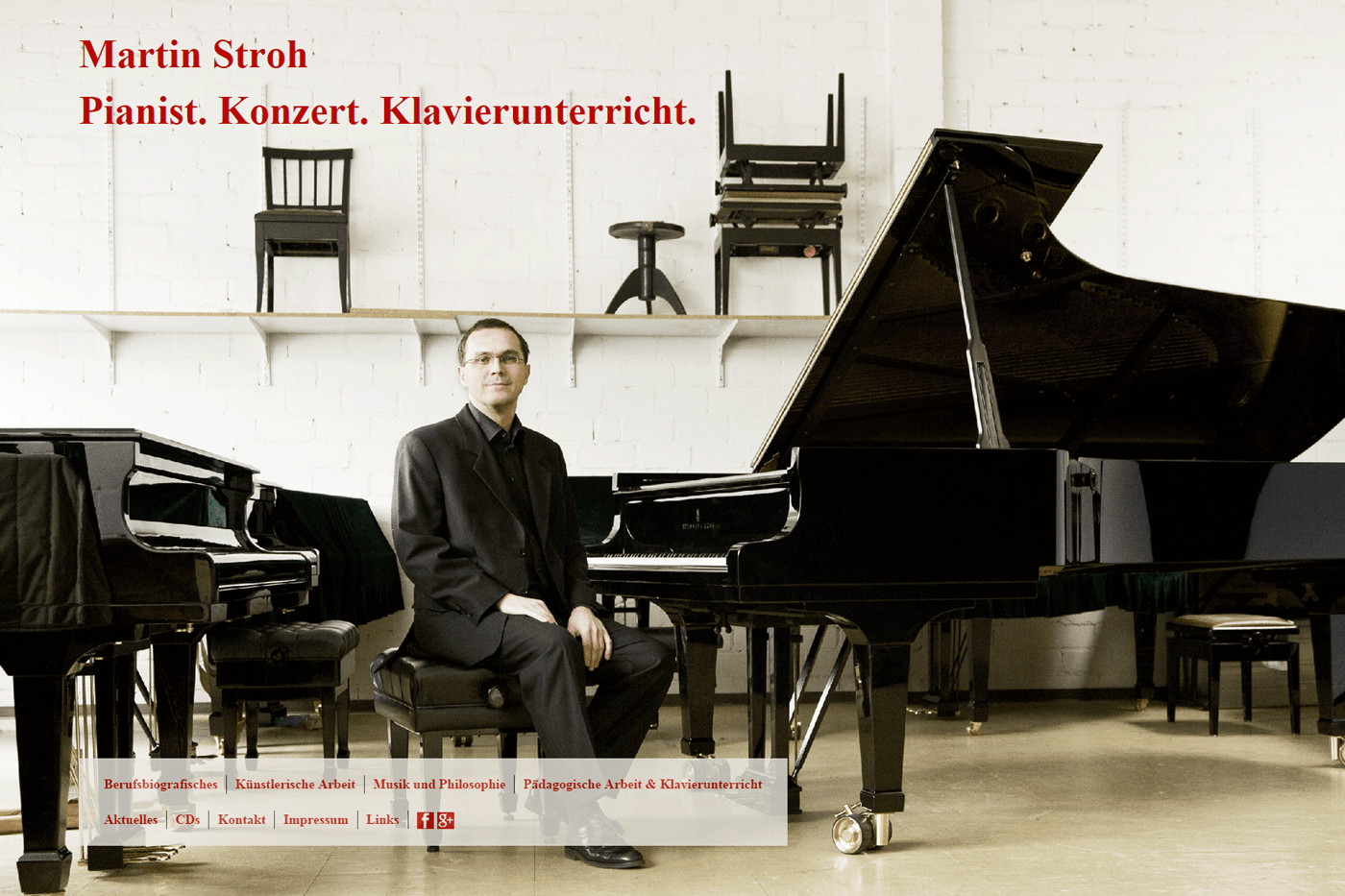 Responsive Website Martin Stroh, Pianist aus Frankfurt am Main 1