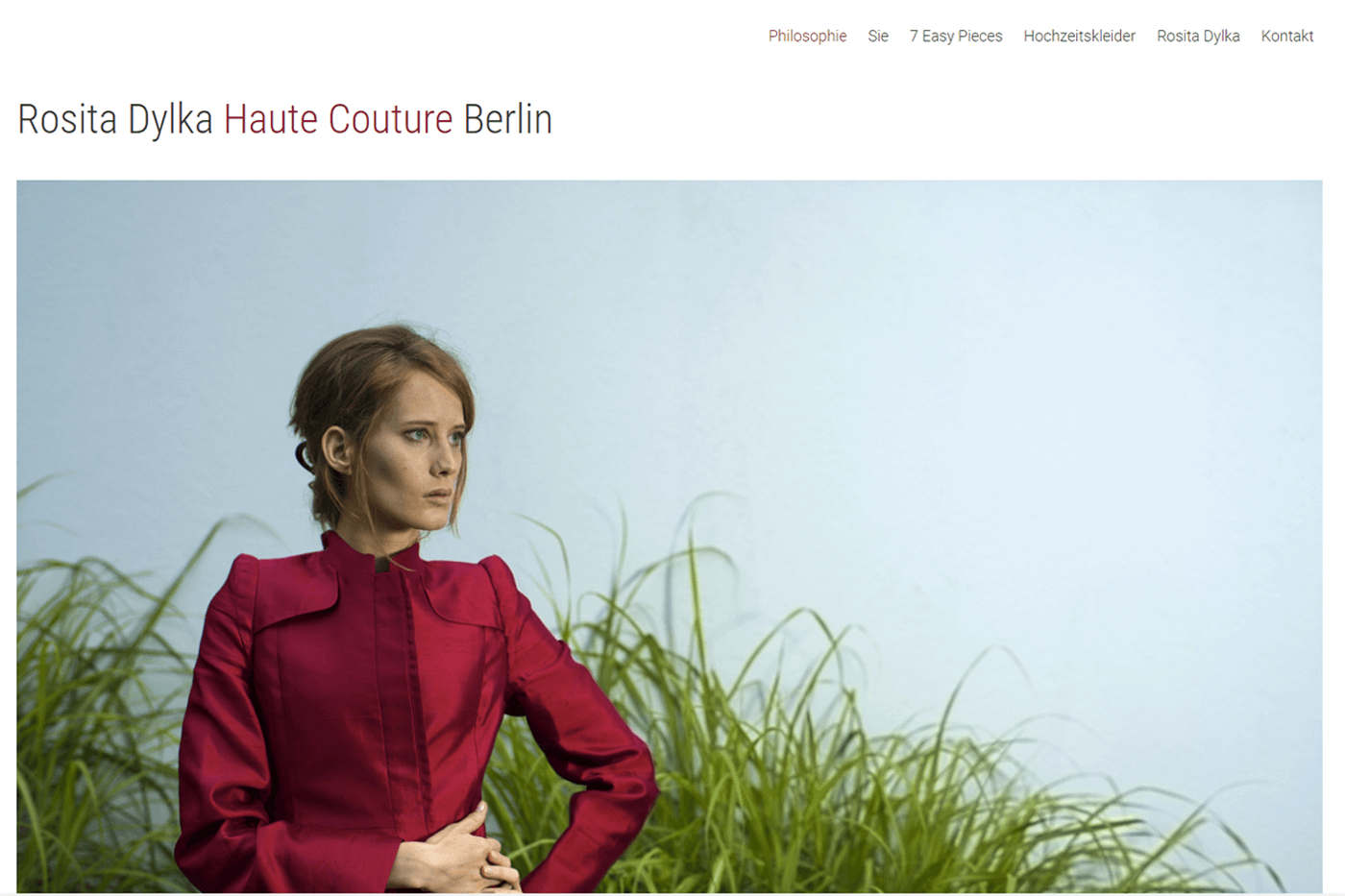 Website für Rosita Dylka Haute Couture Berlin