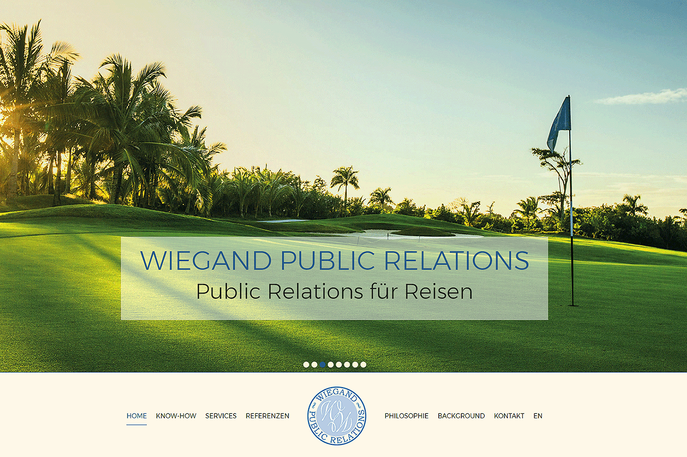 Website für Wiegand Public Relations